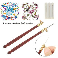 Tambour Hook with 3 Needles 70 100-120 Embroidery Beading Crochet Kit #US
