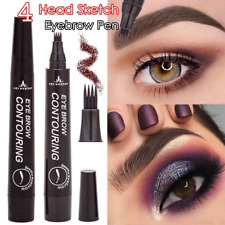 4 Head Microblading Tattoo Eyebrow Pencil Waterproof Fork tip Ink Sketch Pen