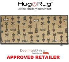 Hug Rug 150x65cm (PET 46) Bone & Hearts Dirt Trapper Door Mat /Runner Washable