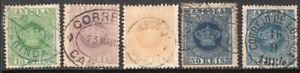 ANGOLA PORTUGAL 1881/5 STAMP Sc. # 10, 12/5 INCLUDED 15a(PERF: 13 1/2) USED
