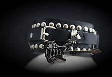 Guitar Bracelet With Stainless Steel Guitar - Rock Style!