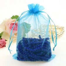 25Pcs SkyBlue Organza Wedding Party Favor Gift Candy Bag Pouch Jewelry 12x9cm