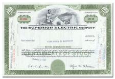 Superior Electric Company Stock Certificate (Bristol, Connecticut)