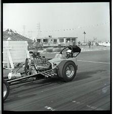 Front Engine Dragster - Vintage B&W Drag Racing Negative