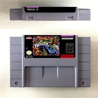 Turtles IV Turtles In Time Game Card For Nintendo SNES US Version 16 Bit English