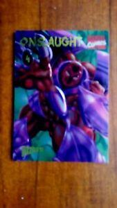 1996 FLEER SKYBOX MARVEL COMICS ONSLAUGHT PROMO CARD