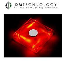 Ventola Cortek Case Trasparente 12x12x2,5 cm Led Red 2 Connettori Molex 4 Pin