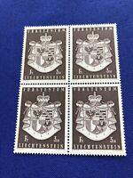 Liechtenstein, Block of 4 stamps, MNH, Price:  $5.00US   (2306)