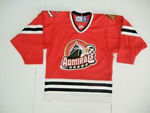 CCM Reebok NORFOLK ADMIRALS Chicago Blackhawks AHL HOCKEY JERSEY Shirt Men's S