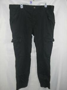 Mens Mossimo Black Cargo Pants size 40x30 NEW (B308)