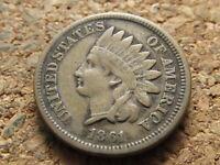 1861 Indian Head Small Cent Penny - Civil War Era