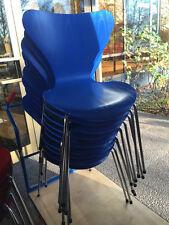 Fritz Hansen 3107 Stuhl Chair Arne Jacobsen blau + viel Farben 10 Stück vorhande