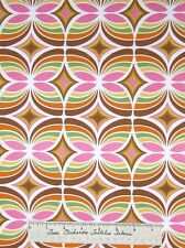 Modern Fabric - Andover Flock Thomas Knauer Kaleidoscope Pink Brown /Yd