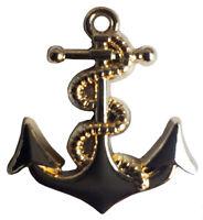 Gold Anchor Motorcycle Hat Cap Lapel Pin