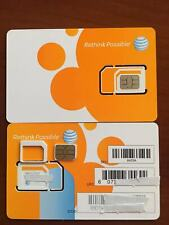 New At&T Go Phone Nano Sim Card 4G Lte Sim Card Unactivated_3 In 1 Triple Cut