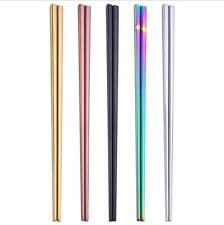One Pair Colorful Chopsticks Metal Chinese Stainless Steel  Luxury Reusable Top