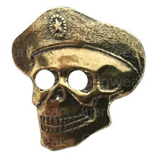 SPETSNAZ SKULL BADGE Genuine Russian Brass Pin Back Soviet Era Army Military