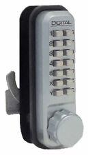Lockey 2500-Sn-Ko Mechanical Keyless Hook Bolt Sliding Door Lock With Key Overri