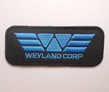 ALIEN MOVIE WEYLAND CORPORATION CORP LOGO COSTUME HOOK FASTENER PATCH