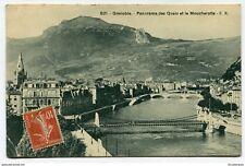 CPA - Carte postale -France -Grenoble -Panorama des Quais et le Moucherotte-1910