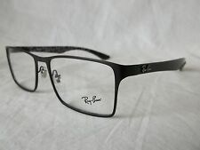 RAY BAN CARBON FIBER EYEGLASS FRAME RX8415 2848 BLACK 53-17-145 NEW AUTHENTIC