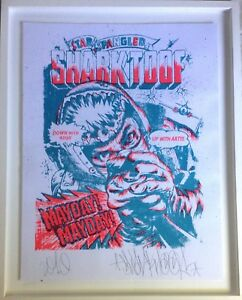 SHARKTOOF MAY DAY Signed, Dated, Numbered Framed LIMITED EDITION Print 2010