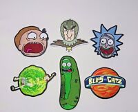 Rick And Morty TV Characters Embroidered Costume Patch Set of (6) Adult Swim