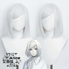 Anime Akudama Drive Sha Ren Gui Cosplay Silver White Wig hair Hairpieces