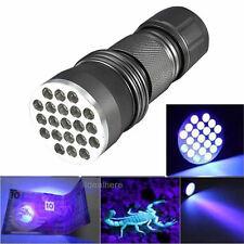 Tascabile 21 LED UV Ultra Violetti Lampada ultravioletti torcia luce flashlight