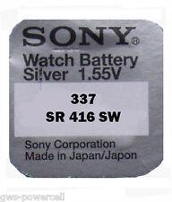 2 x Sony 337 Uhrenbatterie 1,55V SR416SW SR416 SR 416 SW V 337 BATTERIE