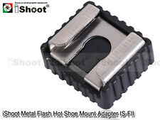 """Metal Flash Hot Shoe Mount Adapter to 1/4"""" Thread for Studio Light Stand/Tripod"""