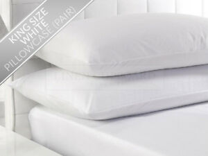 Pair VINYL PILLOW COVERS KING 21x36 ~ ALLERGY PROOF ~ STOP Bed Bugs & Dust Mites