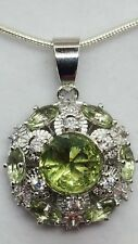 ❤JAYNES GEMS  5CT GREEN  AMETHYST PENDENT & CHAIN. 22INCH X 2MM  CHAIN.