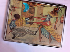 Retro 1940s Rumba Cuban Dancers Cigarette Credit Card Case Business Card Holder!
