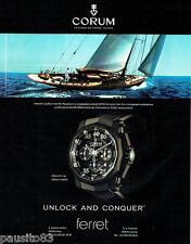 PUBLICITE ADVERTISING  016  2009  Corum  montre Admiral's Cup black Hull 48