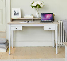 Signature Painted Grey Limed Oak Top Dressing Table Office Desk
