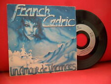 FRANCK CEDRIC Un Amour De Vacances 7/45 OBSCURE 80SFRENCH SYNTH JAZZY POP BALLAD