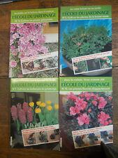 Lot de 4 revues l'école du jardinage n° 5 , 7, 10 , 11
