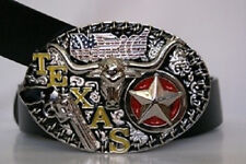 Texas Lone Star and Revolver Belt Buckle