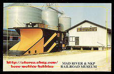 LMH Postcard NEW YORK CENTRAL Maintenance SNOWPLOW NYC X665 MOW Mad River Museum