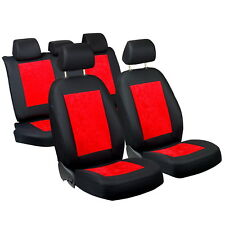 Red Shiny Velour Seat Covers Peugeot 301 Car Seat Cover Complete