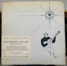 PETE SEEGER a concert folk songs & ballads Mint- SLP 57 Red Vinyl 1963 Stinson