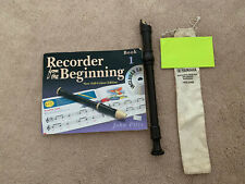 YAMAHA Soprano / Descant Recorder Baroque YRS-24B with case and Beginners Book