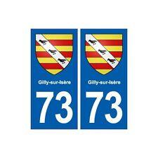 73 Gilly-sur-Isère blason autocollant plaque immatriculation ville droits