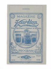 1923 Karlton Theater Playbill - Gorgeous Art Deco Advertisements for Framing