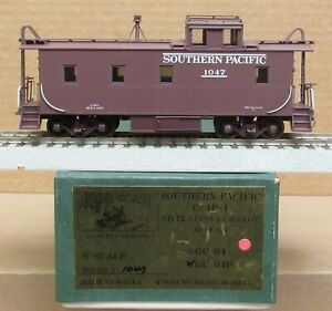 Gold Coast - Southern Pacific C-40-1  Wood-Side Caboose F/P *BRASS* S-Scale NIB