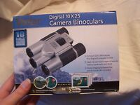 Vivitar CV1025V 10 x 25 Digital Camera Binoculars (Silver) Includes Box