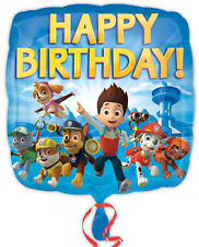 "18"" Foil Helium Boys Birthday Character Balloon Minions Big Hero 6 Paw Patrol"