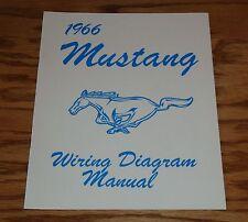 1966 Ford Mustang Wiring Diagram Manual Brochure 66
