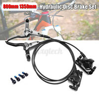 Front 80cm & Rear 135cm Hydraulic Disc Brake Set For Mountain Bike Bicycle
